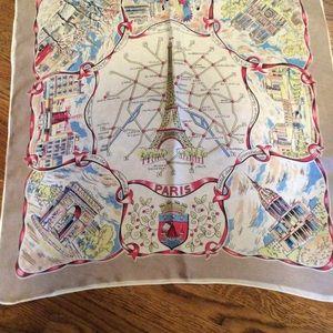 Vintage Paris Souvenir Scarf